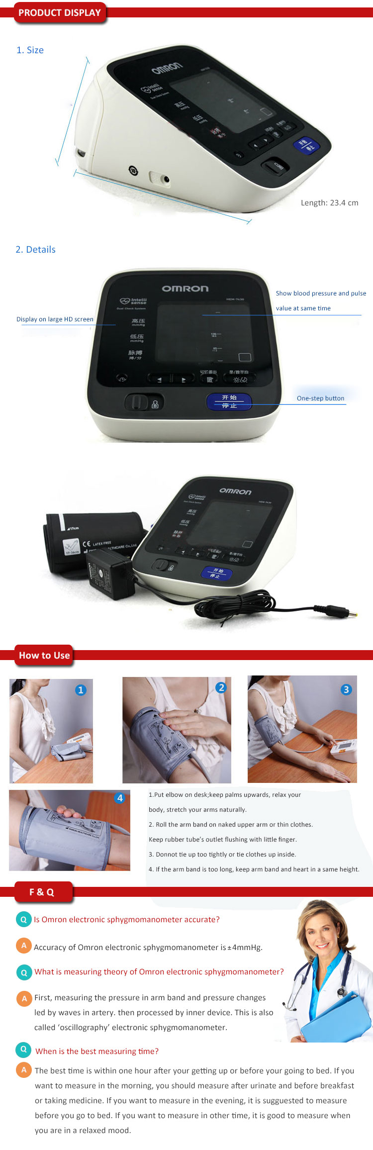 Omron Upper Arm Electronic Blood Pressure