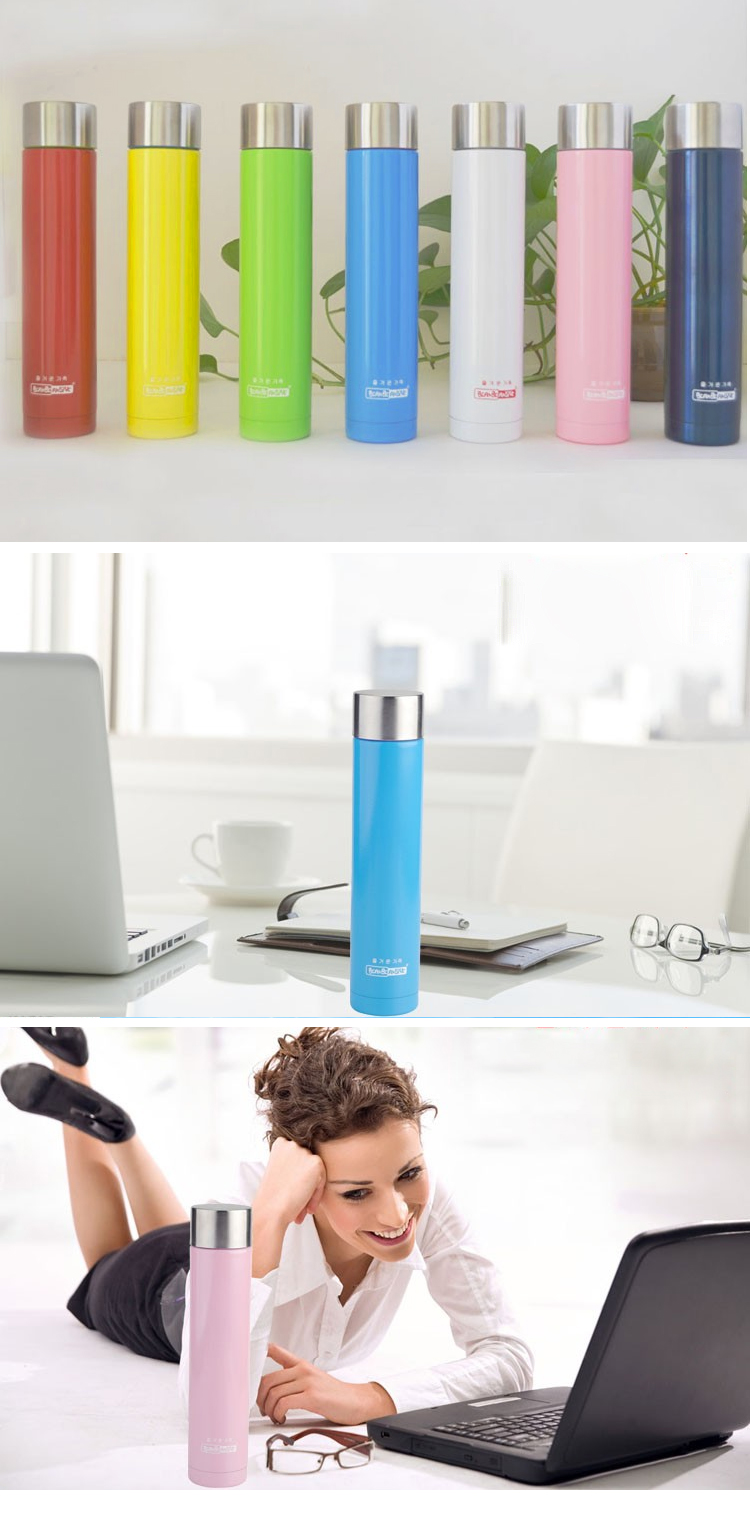 Fashion 240ML Straight Insulated Water Bottle Vacuum Flask