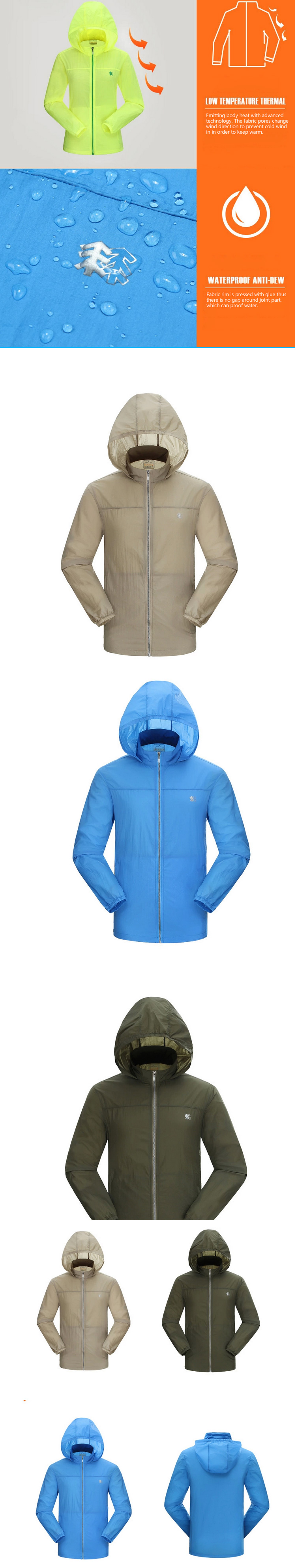 2014 Latest Ultra Slim Sun Protection Hood Jacket