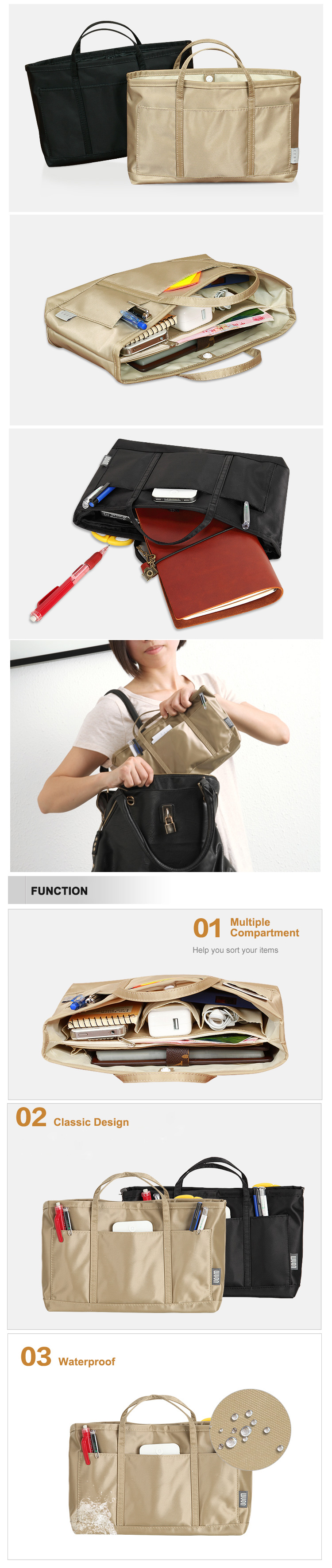 Trendy High Quality PVC Waterproof Multiple Compartment Storage Bag